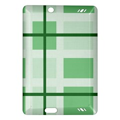 Abstract Green Squares Background Amazon Kindle Fire Hd (2013) Hardshell Case