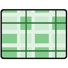 Abstract Green Squares Background Double Sided Fleece Blanket (large)