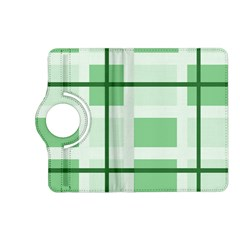 Abstract Green Squares Background Kindle Fire Hd (2013) Flip 360 Case