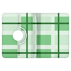 Abstract Green Squares Background Kindle Fire Hdx Flip 360 Case