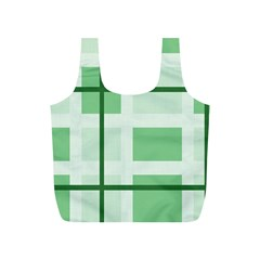 Abstract Green Squares Background Full Print Recycle Bags (s)