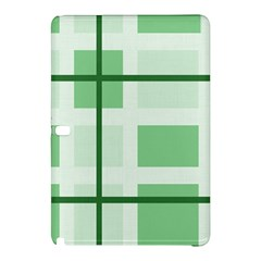 Abstract Green Squares Background Samsung Galaxy Tab Pro 12 2 Hardshell Case