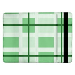 Abstract Green Squares Background Samsung Galaxy Tab Pro 12 2  Flip Case