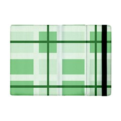 Abstract Green Squares Background Ipad Mini 2 Flip Cases