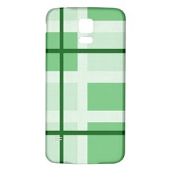 Abstract Green Squares Background Samsung Galaxy S5 Back Case (white)