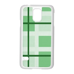 Abstract Green Squares Background Samsung Galaxy S5 Case (white)