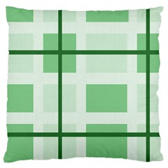 Abstract Green Squares Background Large Flano Cushion Case (two Sides)