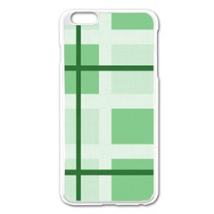 Abstract Green Squares Background Apple Iphone 6 Plus/6s Plus Enamel White Case