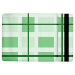 Abstract Green Squares Background Ipad Air 2 Flip