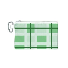 Abstract Green Squares Background Canvas Cosmetic Bag (s)