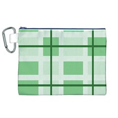 Abstract Green Squares Background Canvas Cosmetic Bag (xl)