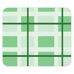 Abstract Green Squares Background Double Sided Flano Blanket (small)