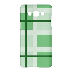 Abstract Green Squares Background Samsung Galaxy A5 Hardshell Case