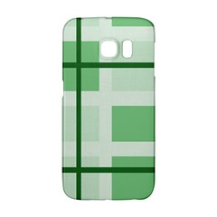 Abstract Green Squares Background Galaxy S6 Edge