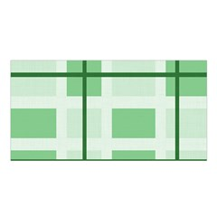 Abstract Green Squares Background Satin Shawl