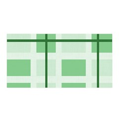 Abstract Green Squares Background Satin Wrap
