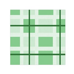 Abstract Green Squares Background Small Satin Scarf (square)