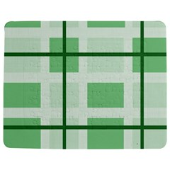 Abstract Green Squares Background Jigsaw Puzzle Photo Stand (Rectangular)