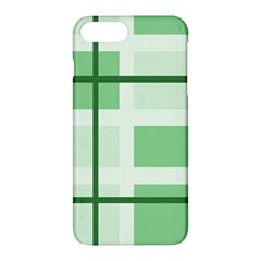 Abstract Green Squares Background Apple Iphone 7 Plus Hardshell Case
