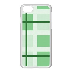 Abstract Green Squares Background Apple Iphone 7 Seamless Case (white)