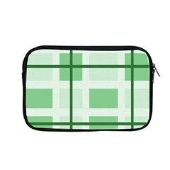 Abstract Green Squares Background Apple MacBook Pro 13  Zipper Case