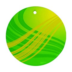 Abstract Green Yellow Background Ornament (Round)