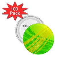 Abstract Green Yellow Background 1 75  Buttons (100 Pack)