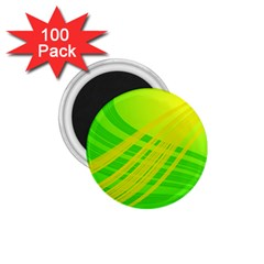 Abstract Green Yellow Background 1 75  Magnets (100 Pack)