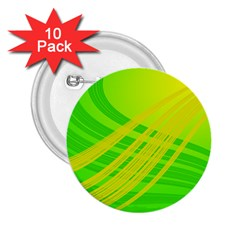 Abstract Green Yellow Background 2.25  Buttons (10 pack)