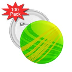 Abstract Green Yellow Background 2 25  Buttons (100 Pack)