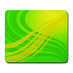 Abstract Green Yellow Background Large Mousepads