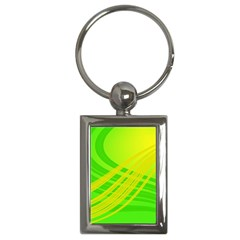 Abstract Green Yellow Background Key Chains (rectangle)