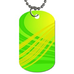 Abstract Green Yellow Background Dog Tag (two Sides)