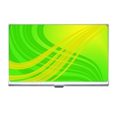Abstract Green Yellow Background Business Card Holders