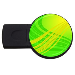 Abstract Green Yellow Background Usb Flash Drive Round (2 Gb)