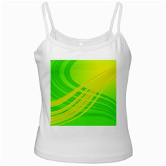 Abstract Green Yellow Background Ladies Camisoles