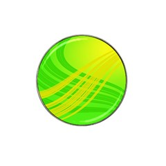 Abstract Green Yellow Background Hat Clip Ball Marker (4 Pack)