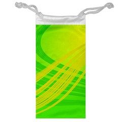 Abstract Green Yellow Background Jewelry Bag