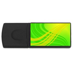 Abstract Green Yellow Background Usb Flash Drive Rectangular (4 Gb)