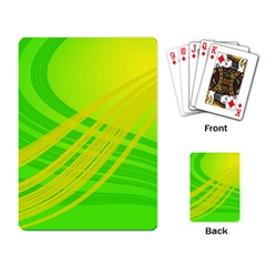 Abstract Green Yellow Background Playing Card