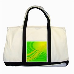 Abstract Green Yellow Background Two Tone Tote Bag