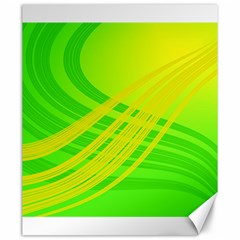 Abstract Green Yellow Background Canvas 20  X 24