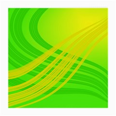 Abstract Green Yellow Background Medium Glasses Cloth