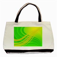Abstract Green Yellow Background Basic Tote Bag (two Sides)