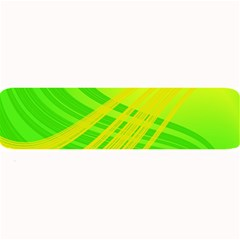 Abstract Green Yellow Background Large Bar Mats