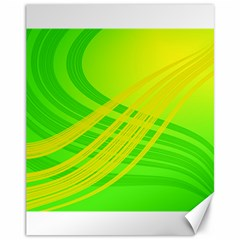 Abstract Green Yellow Background Canvas 11  x 14