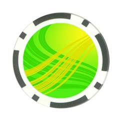 Abstract Green Yellow Background Poker Chip Card Guard