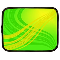 Abstract Green Yellow Background Netbook Case (large)