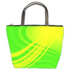 Abstract Green Yellow Background Bucket Bags