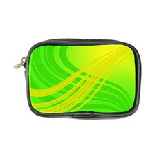 Abstract Green Yellow Background Coin Purse